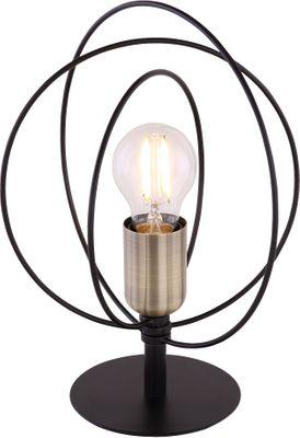 Tischlampe SARINI, Metall schwarz, Globo 54003T