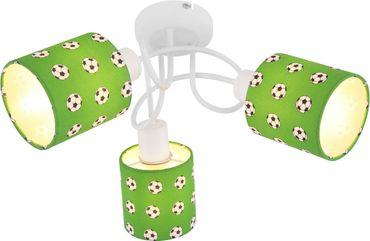 Deckenlampe LEMMI, Metall weiss, Kunststoff grün, Globo 54009-3
