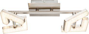 LED Strahler EMMA, nickel matt, Acryl weiss, Globo 56118-2AD