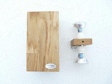 Led Wandlampe Holz Eiche geölt – Bild 3