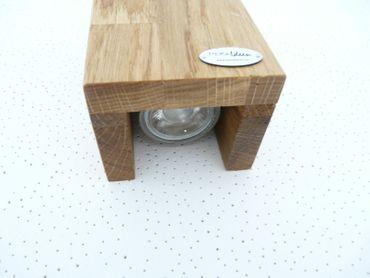 Led Wandlampe Holz Eiche geölt – Bild 6