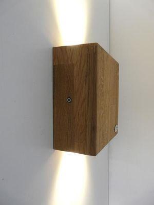 LED Antikholz Wandlampe Holz Eiche geölt 17cm – Bild 2