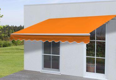 Alu-Markise 4,5x3m terra, Gelenkarmmarkise Sonnenschutz Polyester – Bild 1