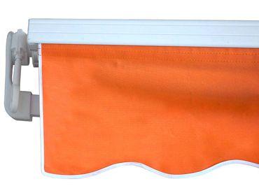 Alu-Markise 4,5x3m terra, Gelenkarmmarkise Sonnenschutz Polyester – Bild 2