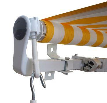 Alu-Markise, Gelenkarmmarkise Sonnenschutz 4,5x3m Polyester, grau-braun – Bild 4