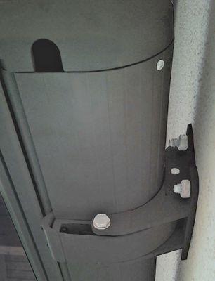 Elektrische Kassettenmarkise, Markise Vollkassette 4x3m - Acryl Grau/Weiss, Rahmen grau – Bild 3