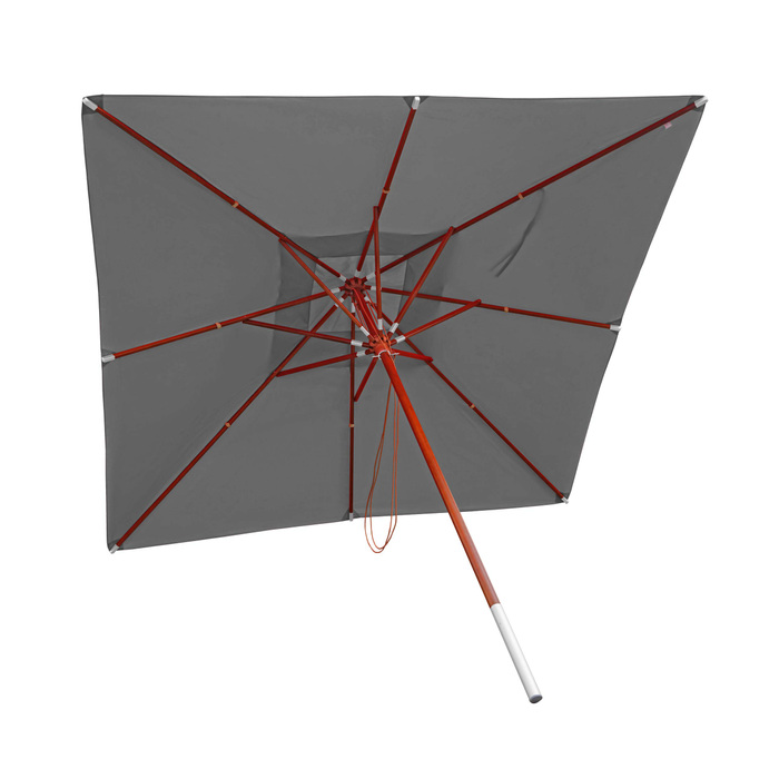 Holz-Sonnenschirm 4x4m