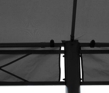 Pergola, Pavillon, stabiles 7cm-Gestell 5x3m ~ grau mit Seitenwand + Moskitonetz – Bild 5