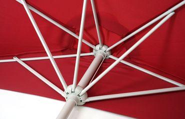 Sonnenschirm halbrund, Halbschirm Balkonschirm, UV 50+ Polyester/Alu 3kg 270cm  – Bild 4