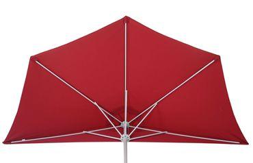 Sonnenschirm halbrund, Halbschirm Balkonschirm, UV 50+ Polyester/Alu 3kg 270cm  – Bild 3
