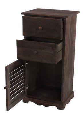 Kommode Schrank, 81x40x32cm, Shabby-Look, Vintage ~ braun – Bild 2