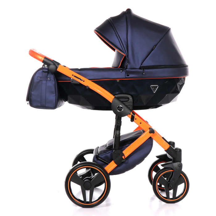 Kinderwagen Junama Fluo II blau-orange