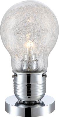 Tischlampe FELIX, Chrom, Glas klar, Globo 15039T
