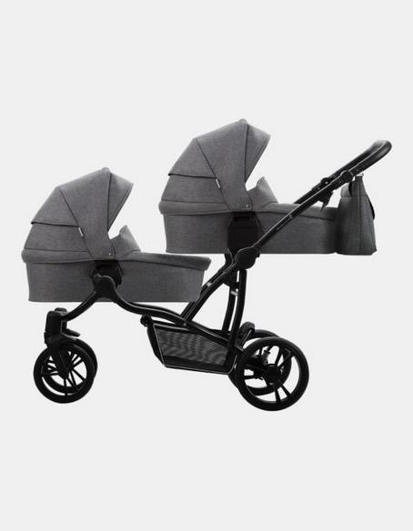 Zwillingskinderwagen Bebetto Simple 42 schwarz-dunkelgrau