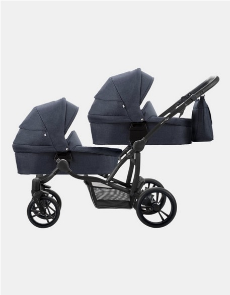 Zwillingskinderwagen Bebetto Simple 42 schwarz-dunkelblau