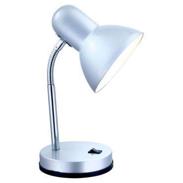 Tischlampe BASIC, Chrom silber metallic, Globo 2487 – Bild 1