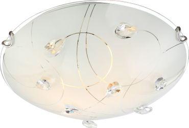 Deckenlampe ALIVIA, nickel matt, Glas opal, Globo 40414-2