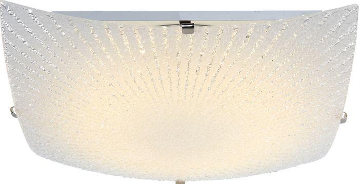 Deckenlampe VANILLA, nickel matt, Glas opal, Globo 40449