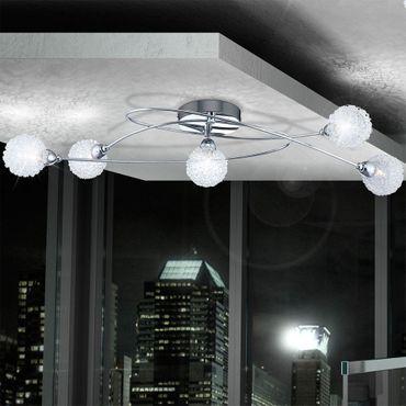 Deckenlampe ORINA, chrom, Glas klar, Globo 56624-5
