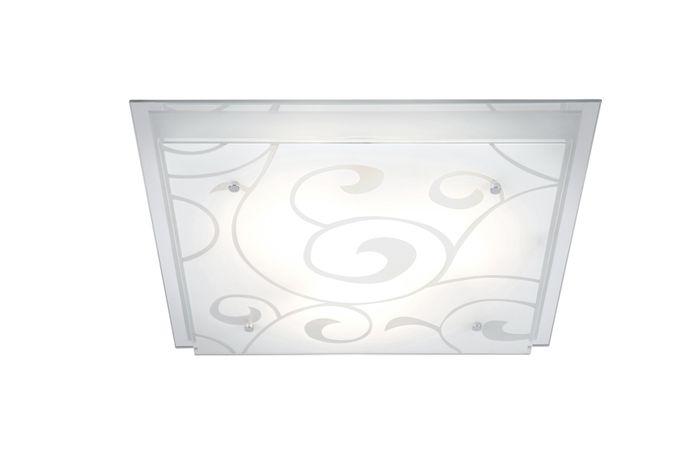 Deckenlampe DIA, weiss, Glas klar, Globo 48062-3