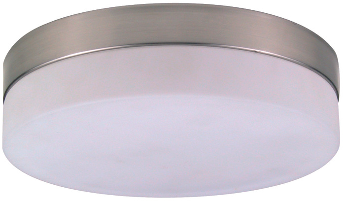 Deckenlampe OPAL, nickel matt, Glas opal, Globo 48402
