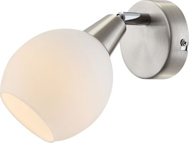 LED Strahler ELLIOTT, nickel matt, Glas opal, Globo 54351-1