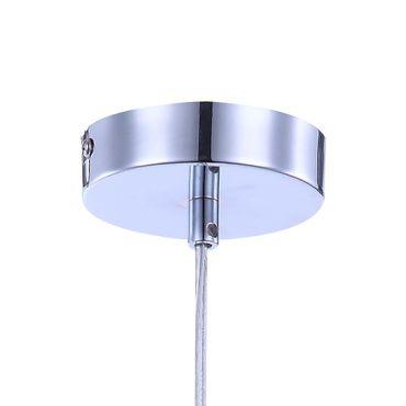 Hängelampe Esszimmer Glas Chrom Metall – Bild 5