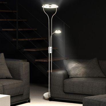 Deckenfluter 22,5 Watt LED Chrom drehbar Höhe 194 cm – Bild 2