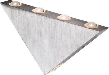 Wandlampe Aluminium gebürstet, Acryl – Bild 1