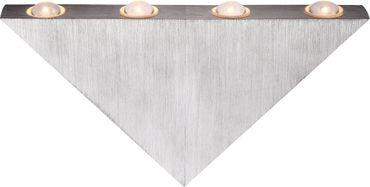 Wandlampe Aluminium gebürstet, Acryl – Bild 2