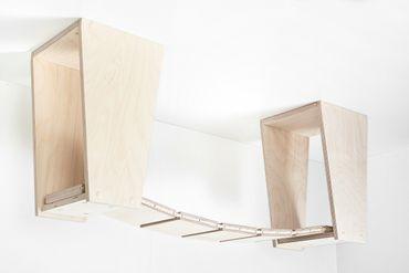 Decken-Set Hängebrücke, 7 Glieder, inkl. 2 Deckenhalter, 100/104cm – Bild 1