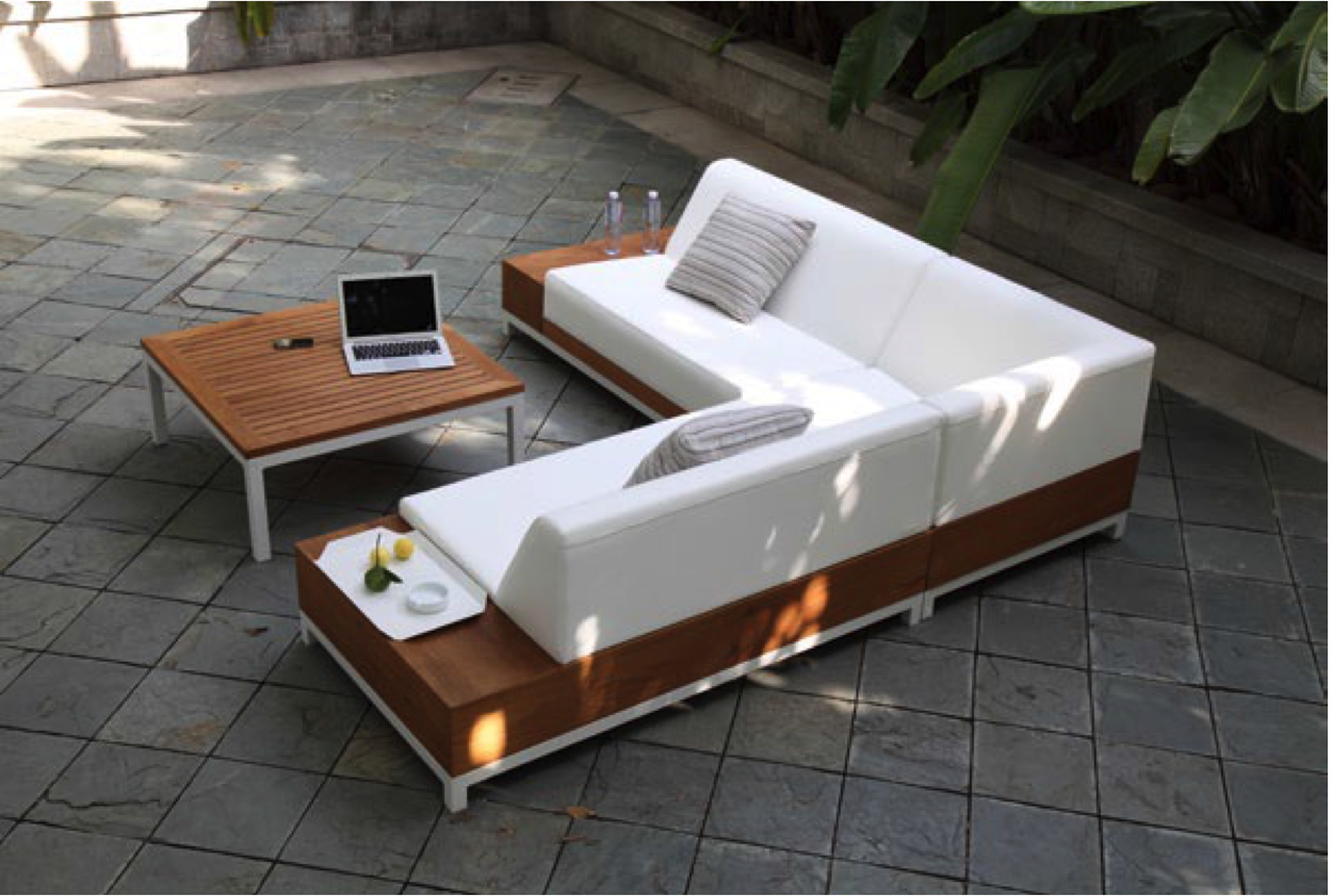 lounge divano ivory outdoorlounge garten gartenm bel. Black Bedroom Furniture Sets. Home Design Ideas