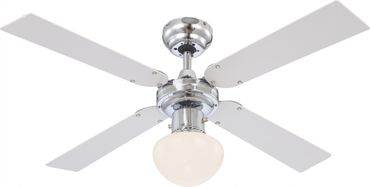 Ventilator CHAMPION, Chrom, Globo 330