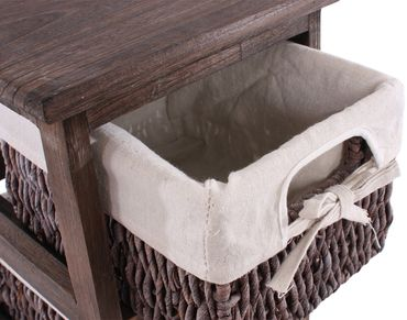 Regal Kommode mit 4 Korbschubladen Shabby-Look – Bild 6