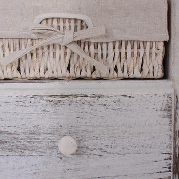 Sitzbank Kommode mit 2 Körben, Shabby-Look, Vintage - 9997 – Bild 8