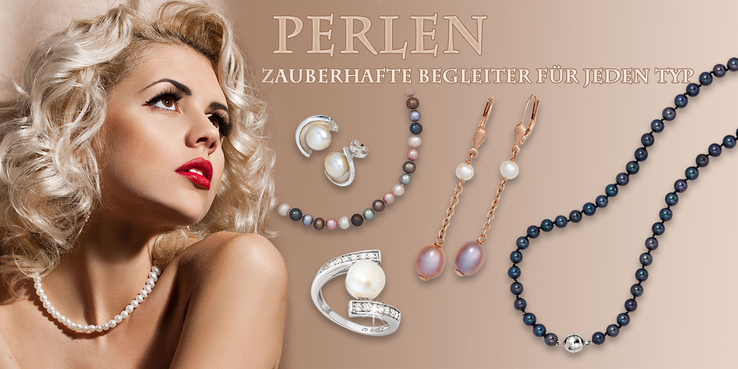 perlenschmuck, ohrringe perlen, damenring mit perlen