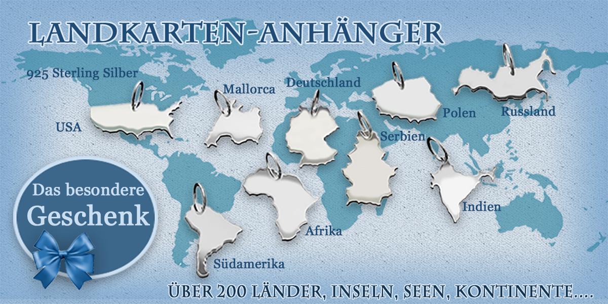 Landkarten Anhänger