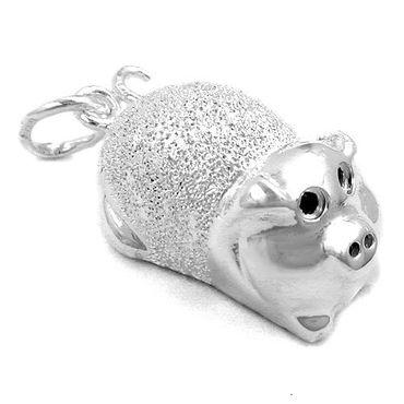 Anhänger, Schweinchen, 925