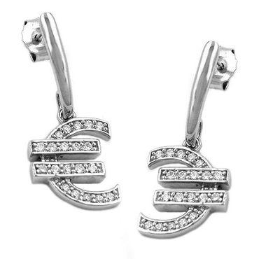 Stecker, Ohrring Euro-Zeichen Silber 925