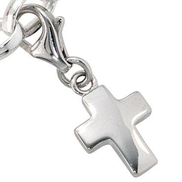 Charm Anhänger Kreuz 925 Sterling Silber, Charms Bettelarmband