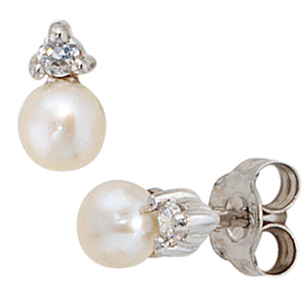 Beamten wählen Spielraum einzigartiges Design Perlen - Ohrstecker mit kleinem Zirkonia 925 Sterling Silber Schmuck  Ohrringe, Ohrschmuck | Silberschmuckwelt.de
