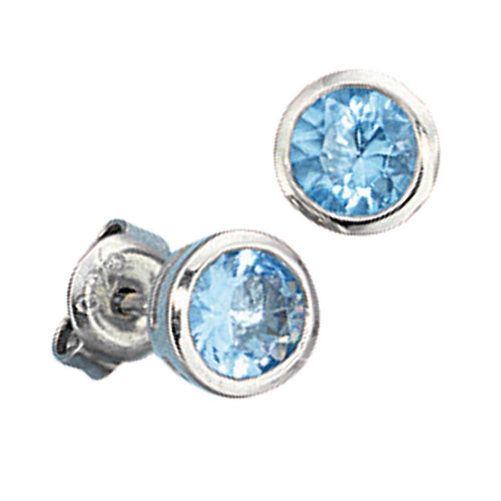 Ohrringe silber blauer stein