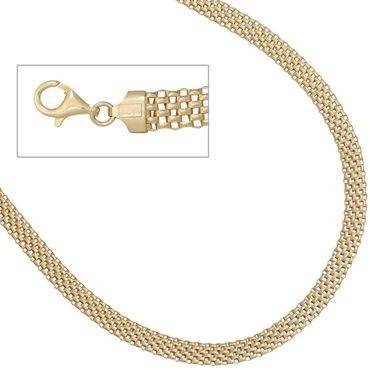 Collier 925 Sterling Silber vergoldet 45 cm Karabiner, Halskette