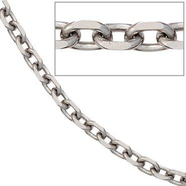 Ankerkette 4,3 mm Edelstahl 45 cm Halskette Kette Karabiner, Edelstahlkette