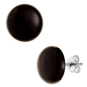 Ohrstecker Onyx 12 mm,  925 Sterling Silber, Ohrringe