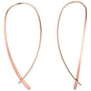 Durchzieh-Ohrhänger 925 Silber rotgold vergoldet, Ohrringe zum Durchziehen