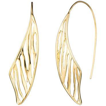 Durchzieh-Ohrhänger 925 Sterling Silber gold vergoldet, Ohrringe zum Durchziehen