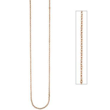 Kette, Halskette Edelstahl rotgold farben beschichtet 2,2 mm 46 cm, Edelstahlkette