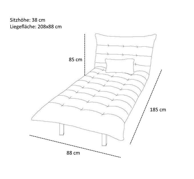 Sofa Modulo mit Longchair Blau – Bild 14