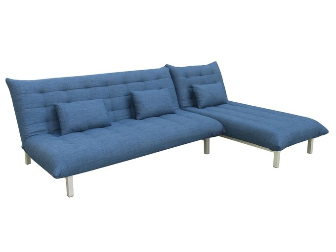 Sofa Modulo mit Longchair Blau – Bild 1